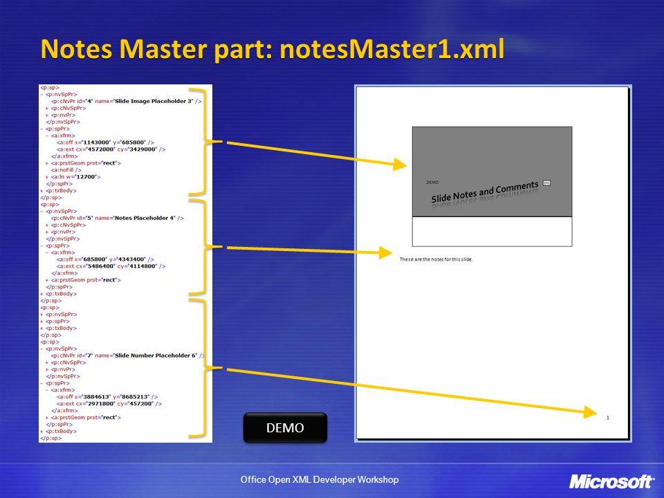 Notes Master part: notesMaster1.xml