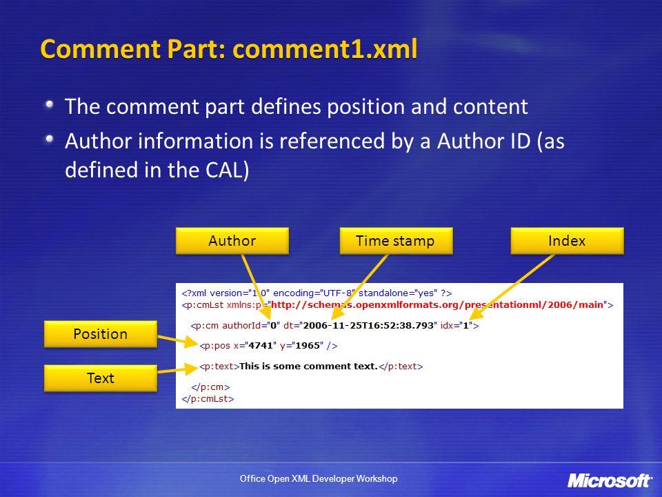 Comment Part: comment1.xml