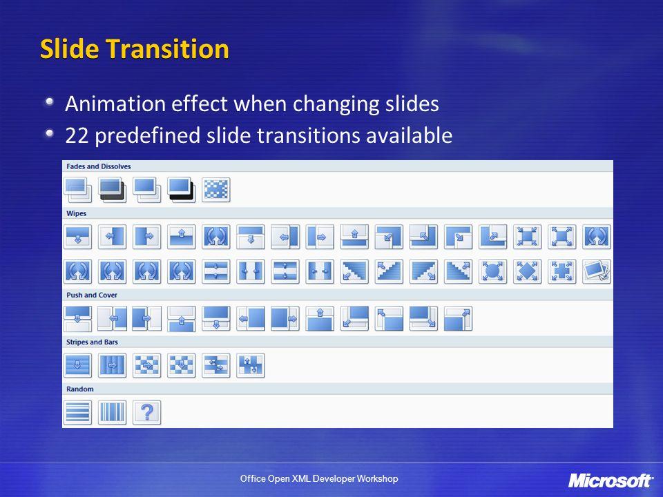 Slide Transition Animation effect when changing slides