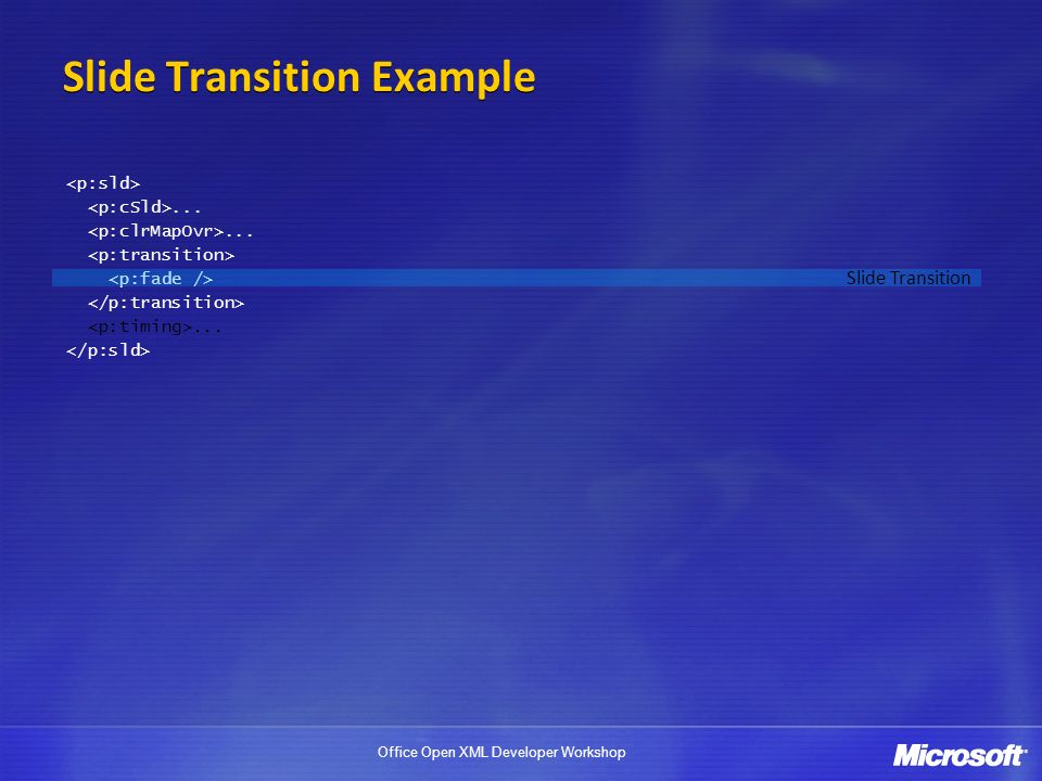 Slide Transition Example