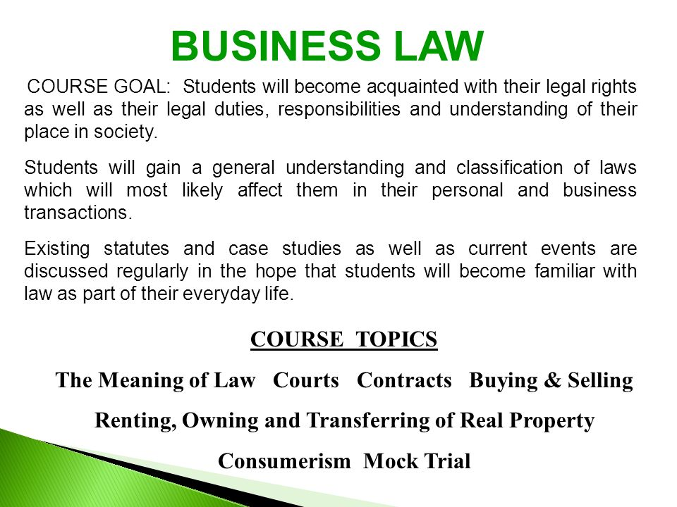 current business law topics