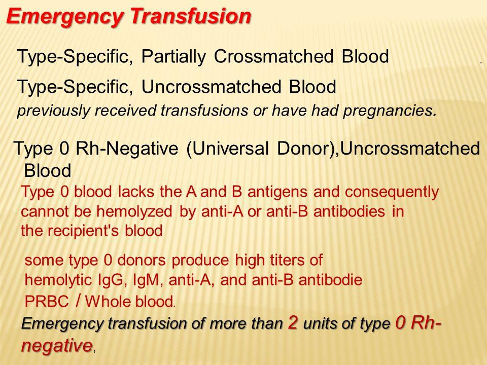 Emergency Transfusion