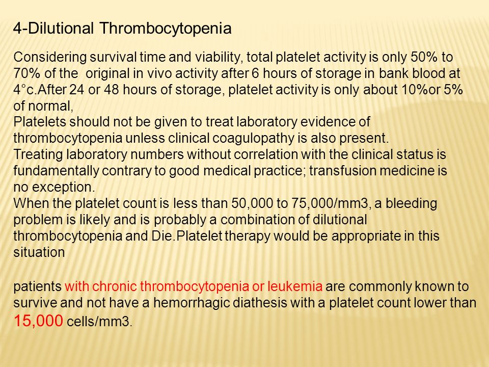 4-Dilutional Thrombocytopenia