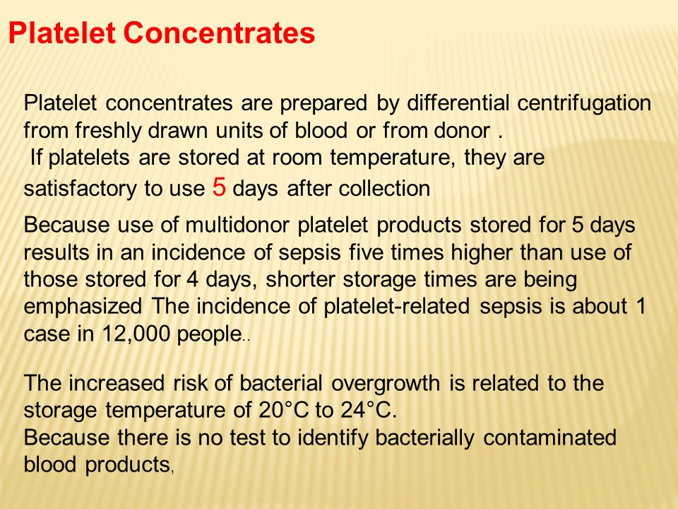 Platelet Concentrates
