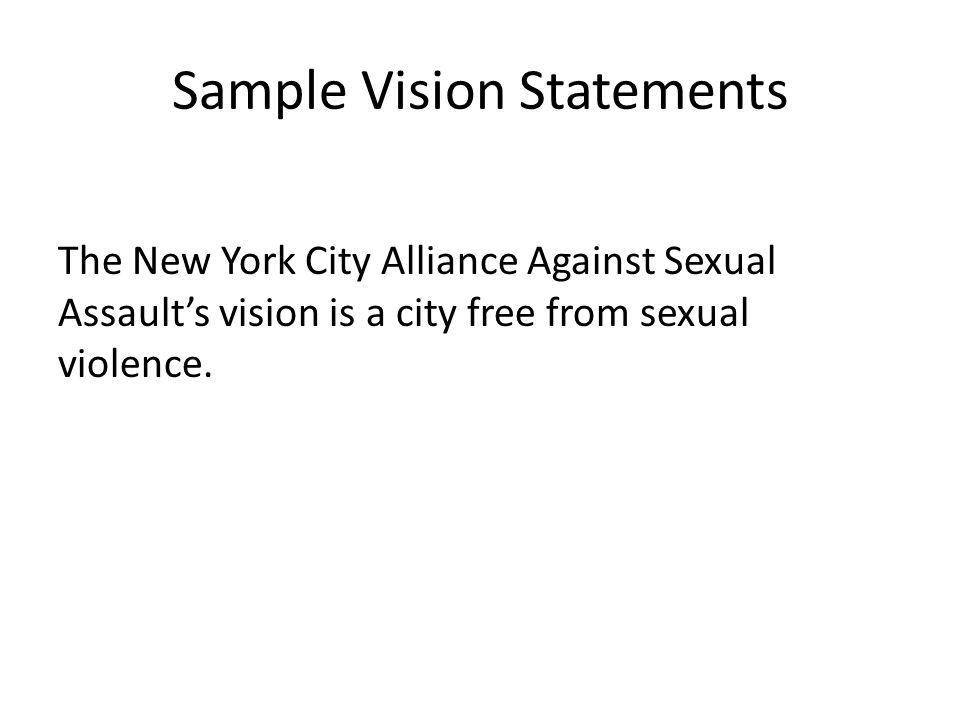 sample personal vision