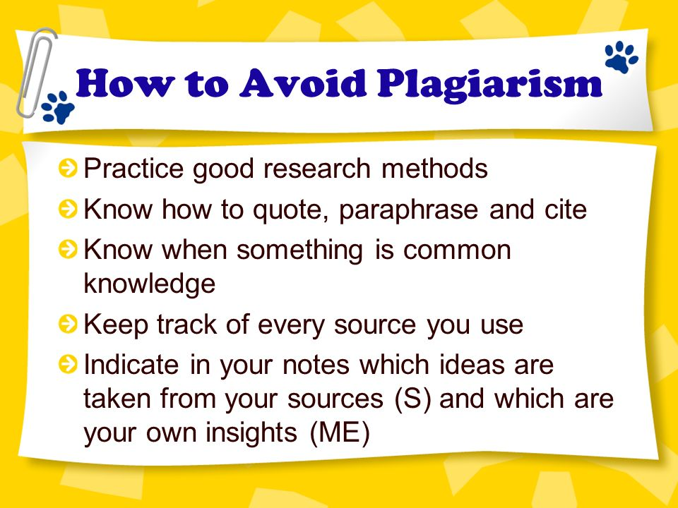 avoid plagarism A good guideline to avoid plagiarism is not to repeat or reproduce other people's  words, diagrams or computer programs if you need to describe other people's.