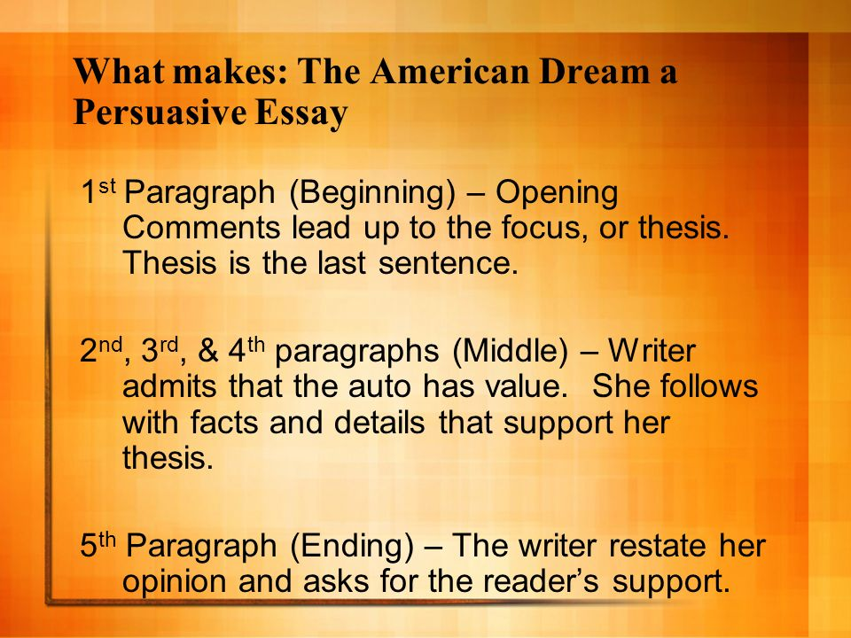 Persuasive writing about homework have a dream