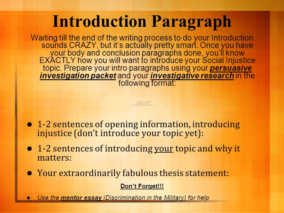 persuasive essay discrimination On equality and persons let us equality means no discrimination of any kind a persuasive essay is a form of academic writing that is built around a central.