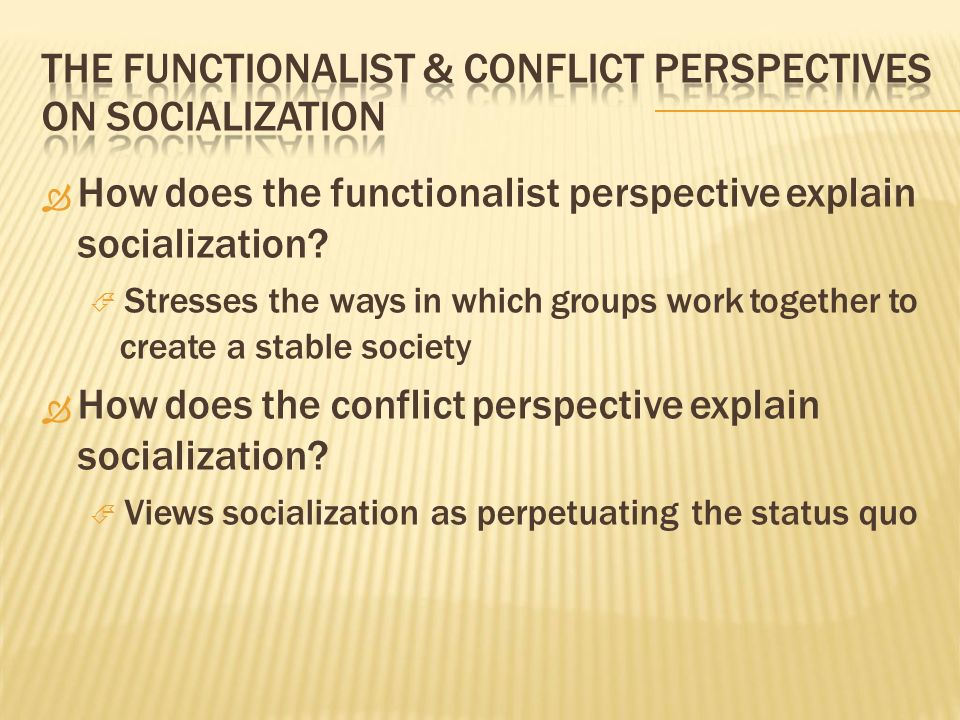 functionalist perspective definition