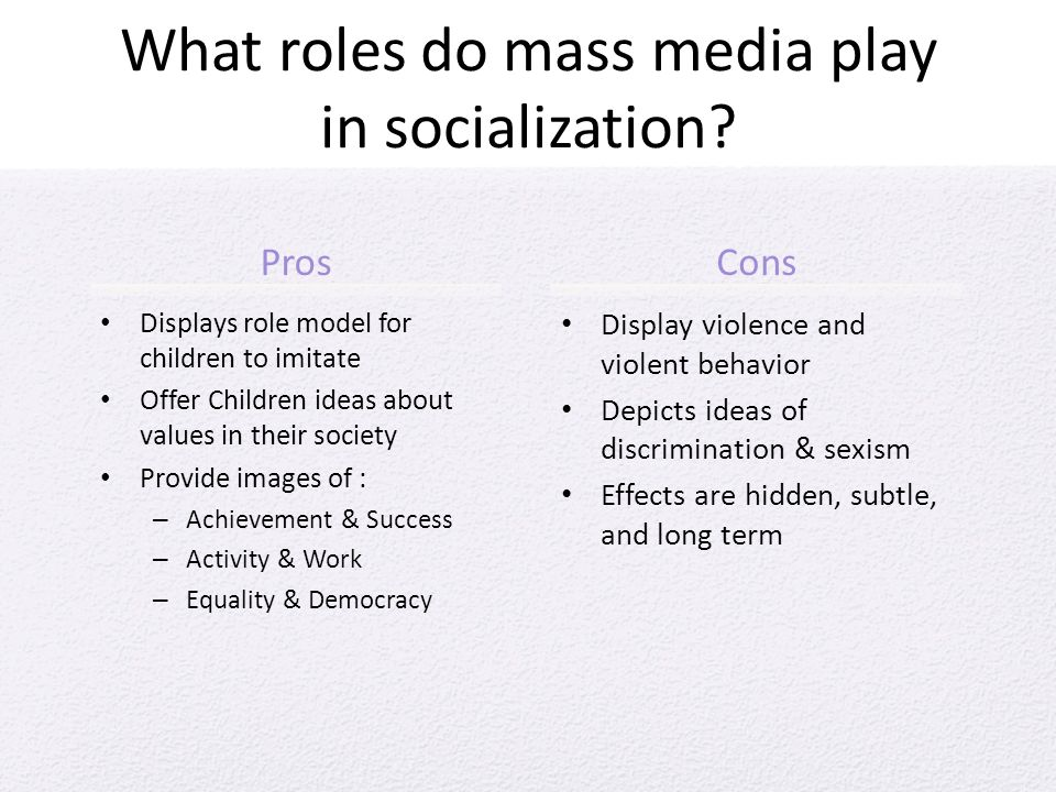 the role of the mass media in modern society Mass media plays a crucial role in influencing people's mind it is quite evident to all of us that the mass media has become an essential part of everyone's life rather, the media plays a.