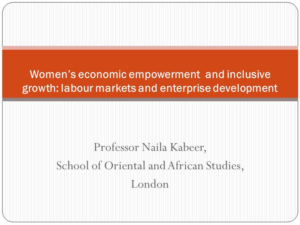 Professor Naila Kabeer, School of Oriental and African Studies, London
