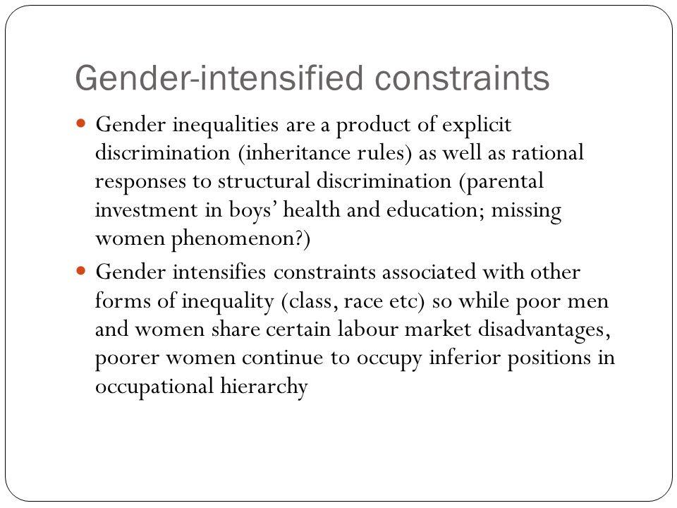 Gender-intensified constraints
