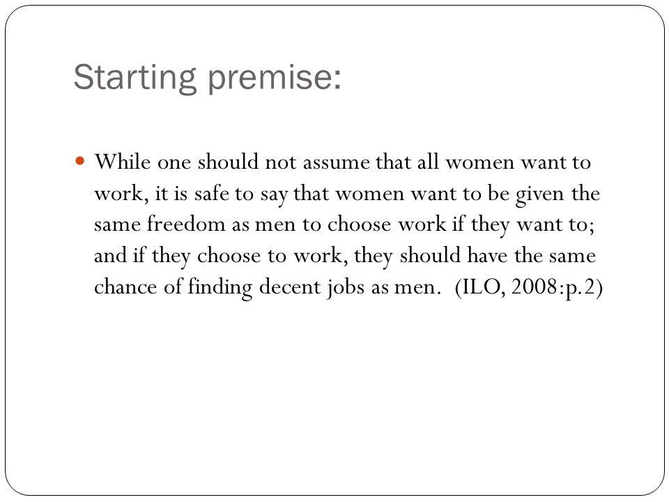 Starting premise: