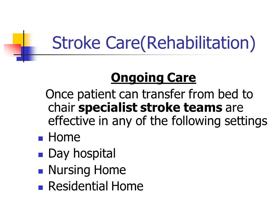 how to take care of stroke patient at home