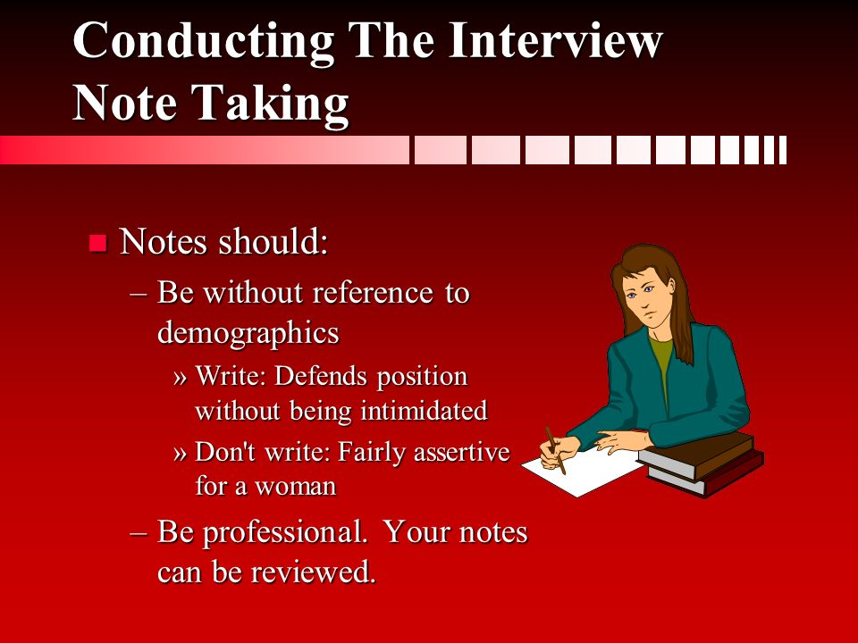 interviewing job candidates