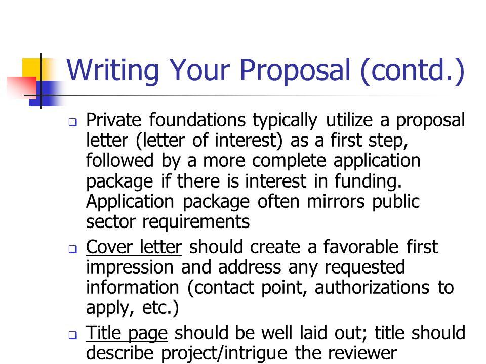 sample grant writing