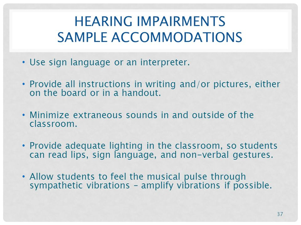 hearing impairment accommodations
