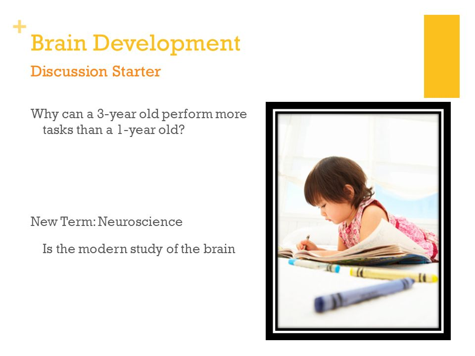 a discussion on intellectual development of young children Critical concept 1 young children make rapid intellectual advancements during the preschool years they now engage in what piaget has called preoperational thought.
