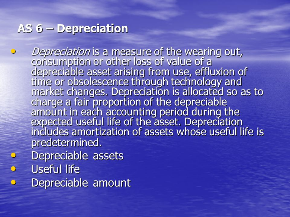 depreciation and useful life Farm depreciation depreciation – it must have a useful life that extends substantially beyond the year you.