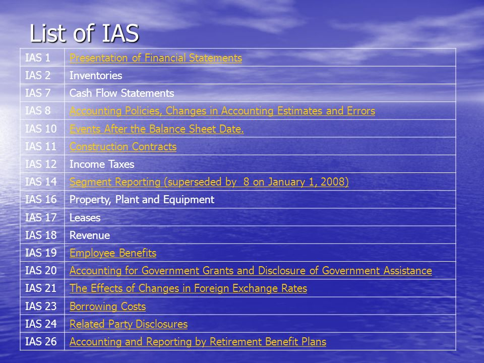 ias 20 Ias 20 deals primarily with government grants the term government refers to state authorities and similar bodies whether local, national or international, irrespective of their legal form (ias 203.