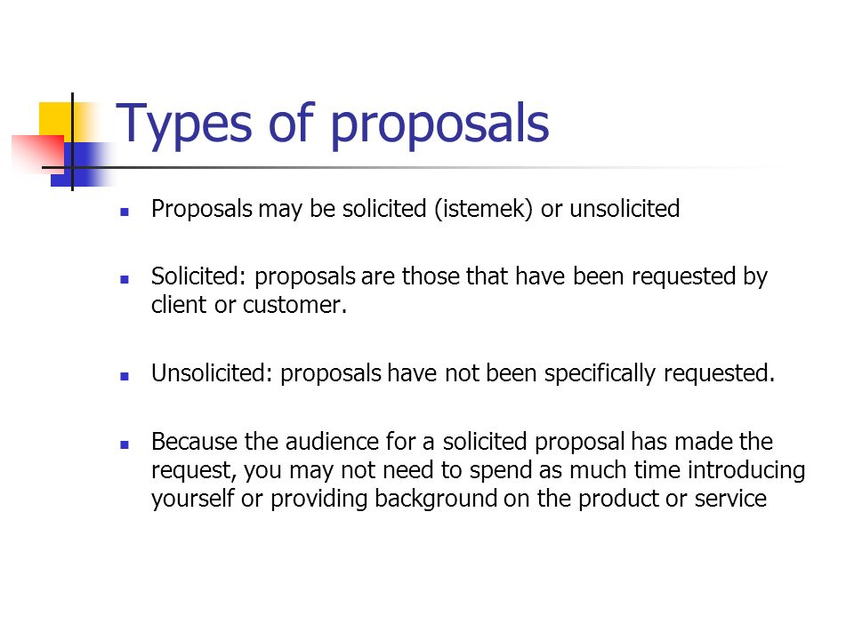 Business Proposal & Types of Business Proposal