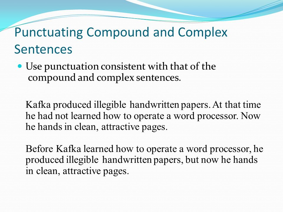how to use therefore in a compound sentence