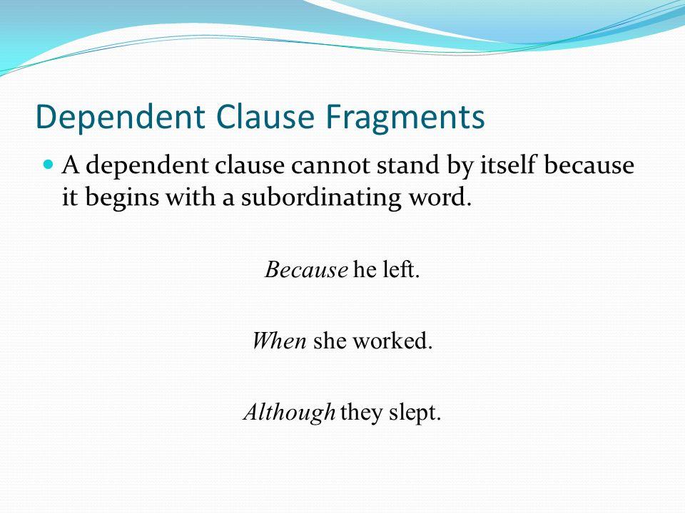 At a Glance Sentences ppt download – Dependent Clause Worksheet