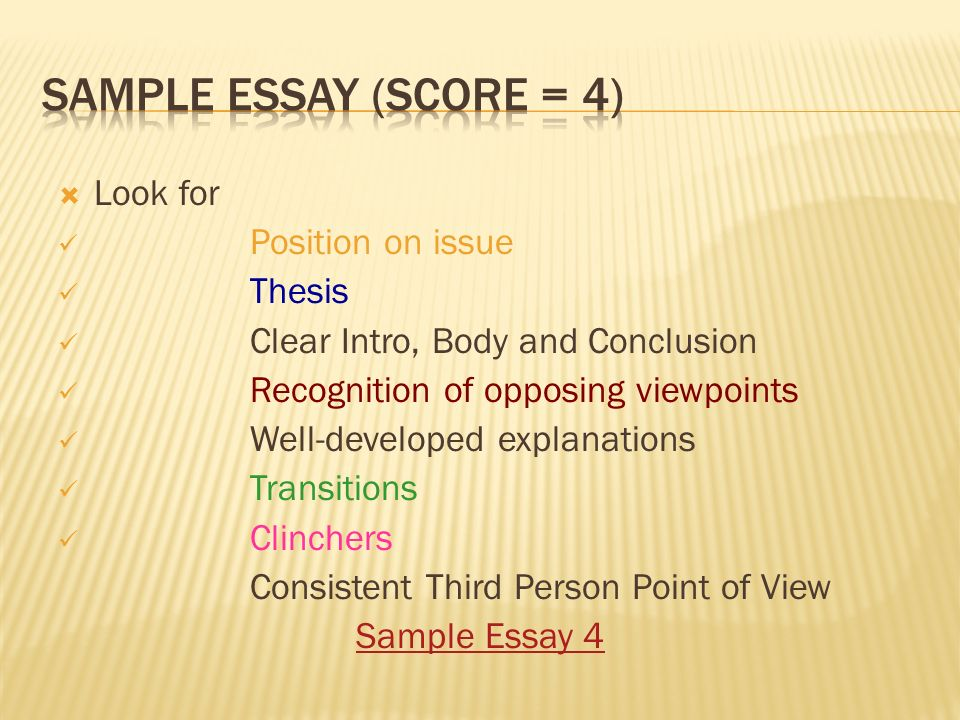 pass the test act strategies ppt video online  sample essay score 4 look for position on issue thesis
