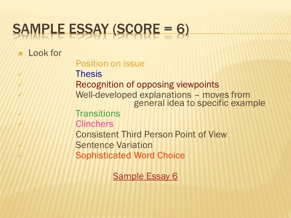 pass the test act strategies ppt video online  sample essay score 6 look for position on issue thesis