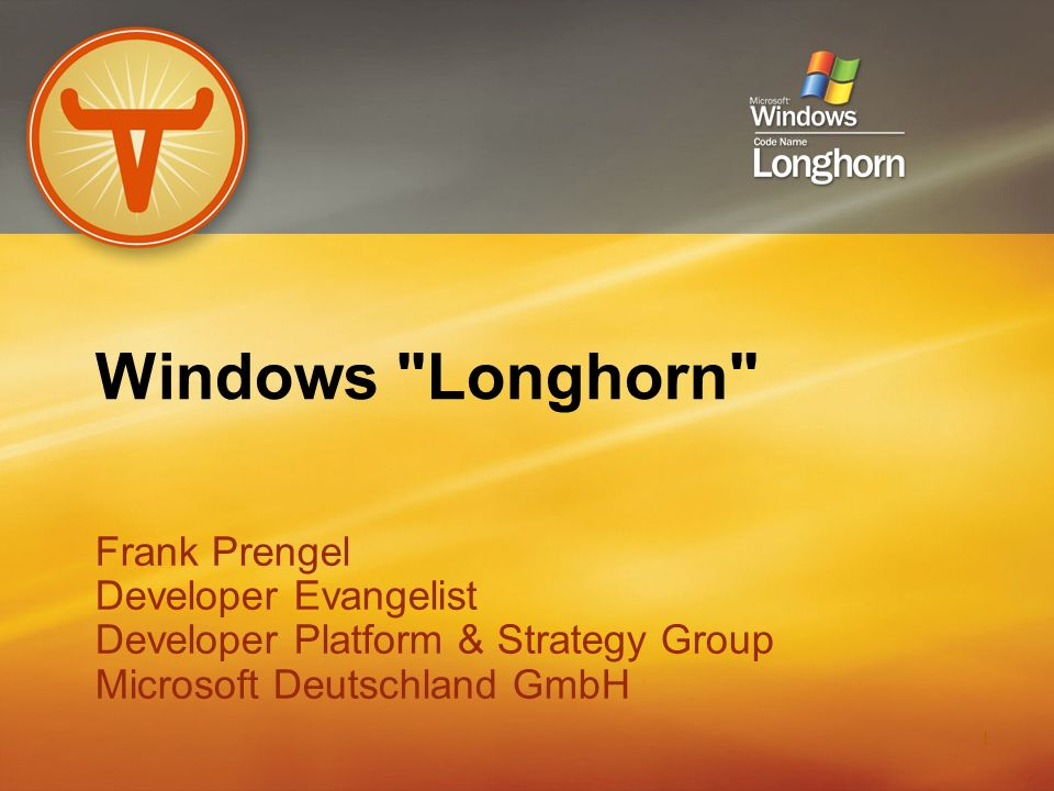 Windows Longhorn Frank Prengel