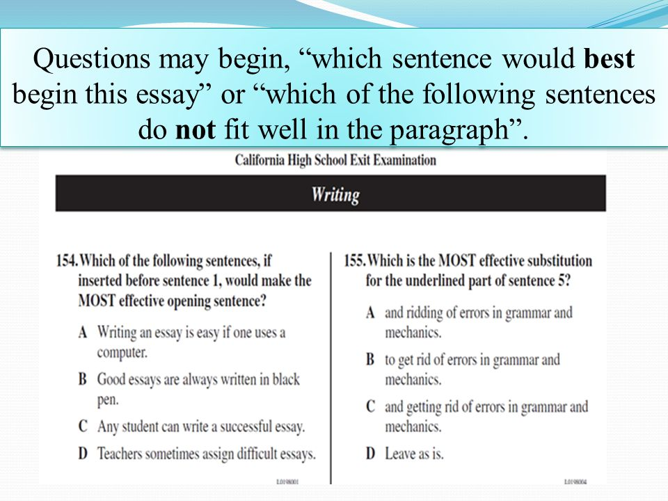 good college essay opening sentence Discover the secrets of writing good essays for college the first sentence kissel, adam writing resources - essay help | academic essays gradesaver.