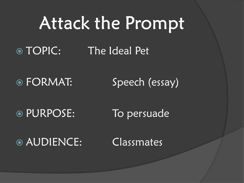 welcome to ngms curriculum night ppt  attack the prompt topic the ideal pet format speech essay
