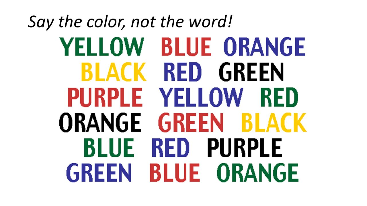 Say The Color Not The Word 28 Images Try To Say The