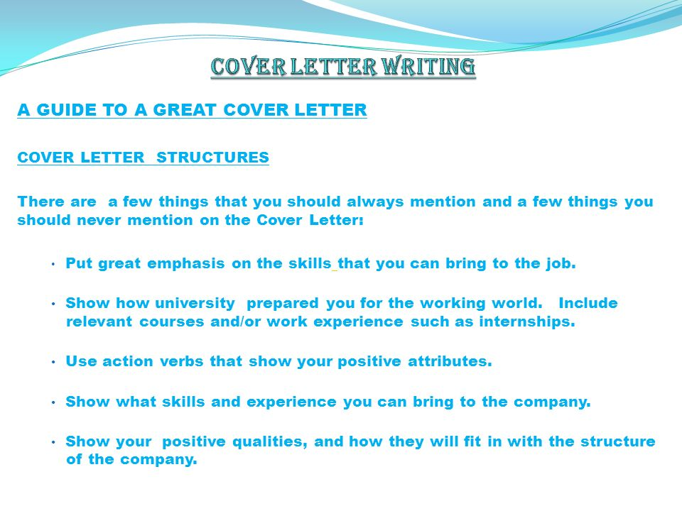 things to write in a cover letter - by h sey n g rsev spring ppt download