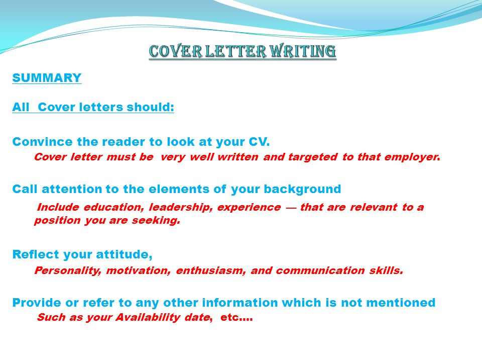 How to write a Cover letter (Free CV Sample Included)