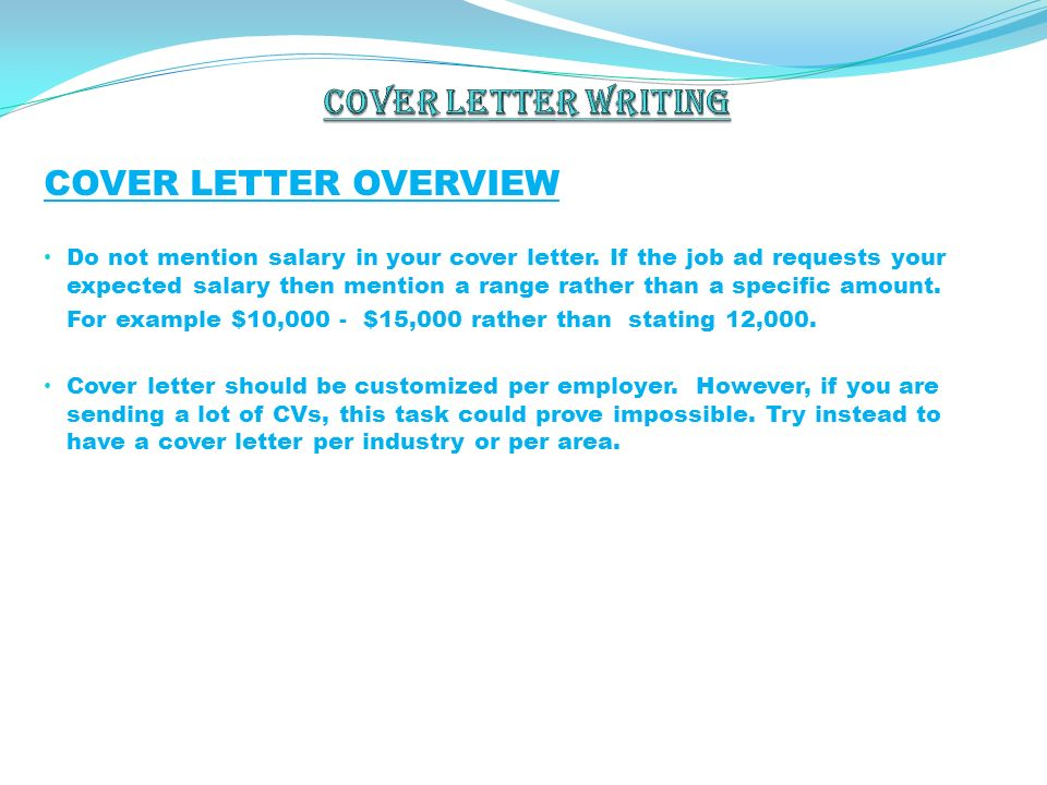 Cover Letter Writing. Image Titled Write A Cover Letter For A