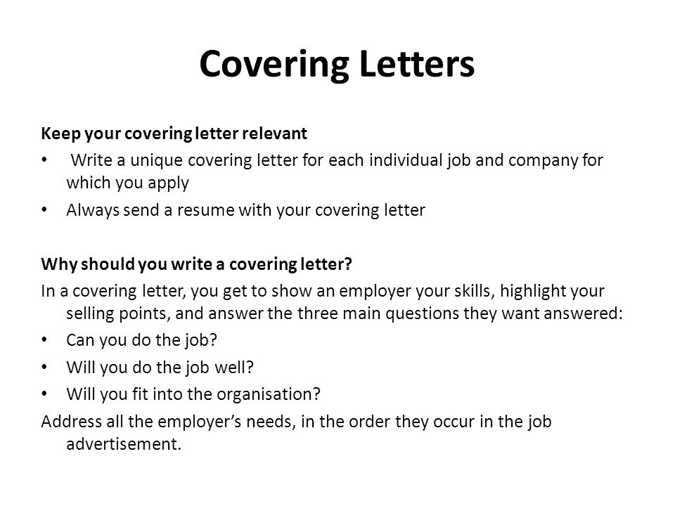 writing covering letters 2 covering