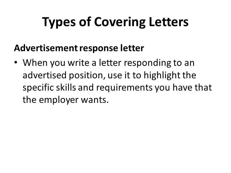 writing covering letters ppt download