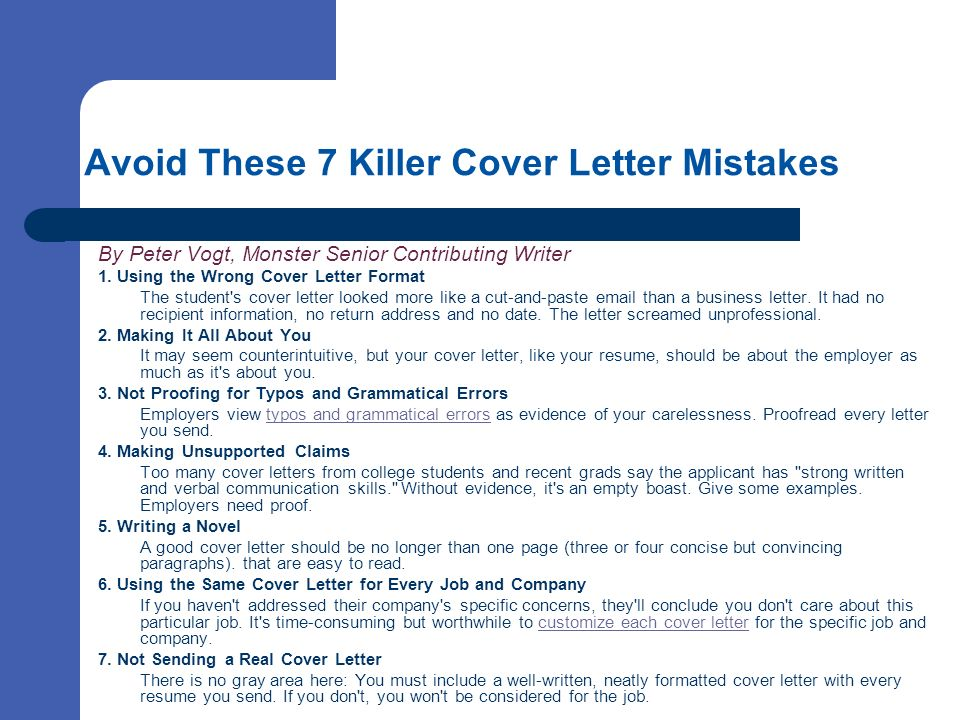 Cover Letters Selling Your Skills On Paper  Ppt Download