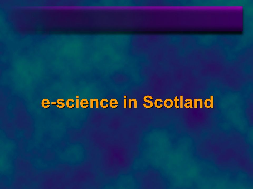 e-science in Scotland