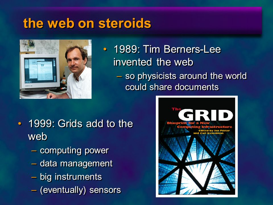 the web on steroids 1989: Tim Berners-Lee invented the web