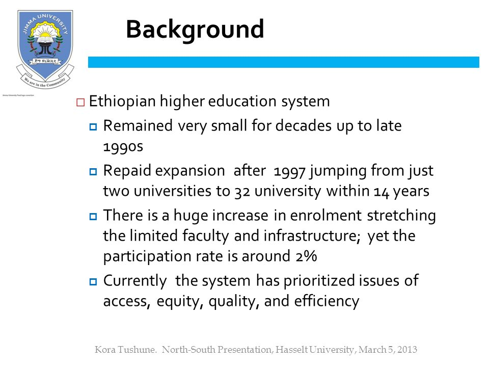 background of the study in enrolment system It had achieved to record the gross enrolment rate  second part will comprise background of the study,  the background and education system of tanzania.