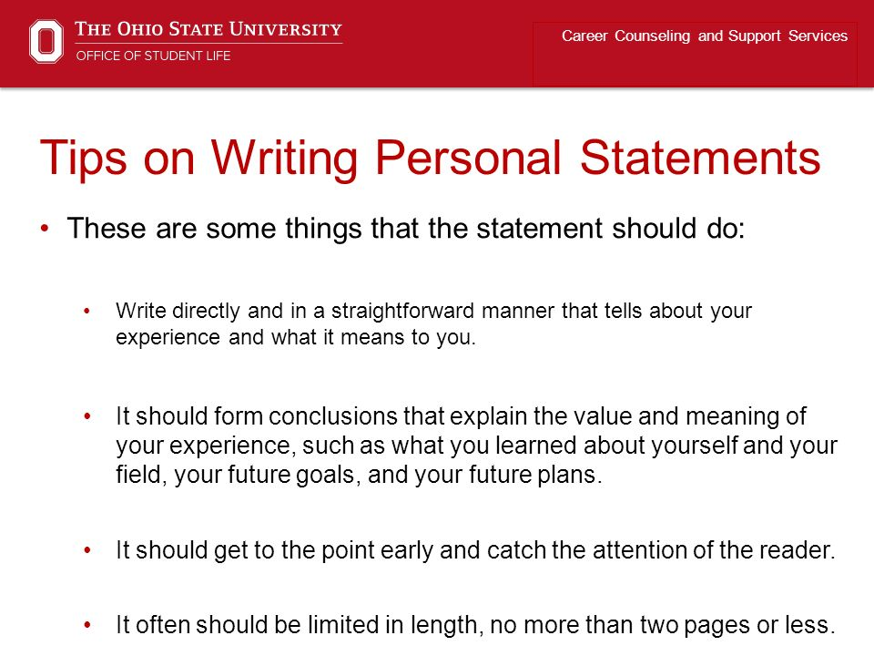 write a personal essay to university Writing the personal statement  helpful tips and advice for drafting a compelling personal statement when applying for graduate admission.