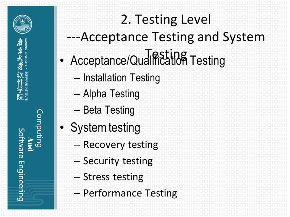 system acceptance testing