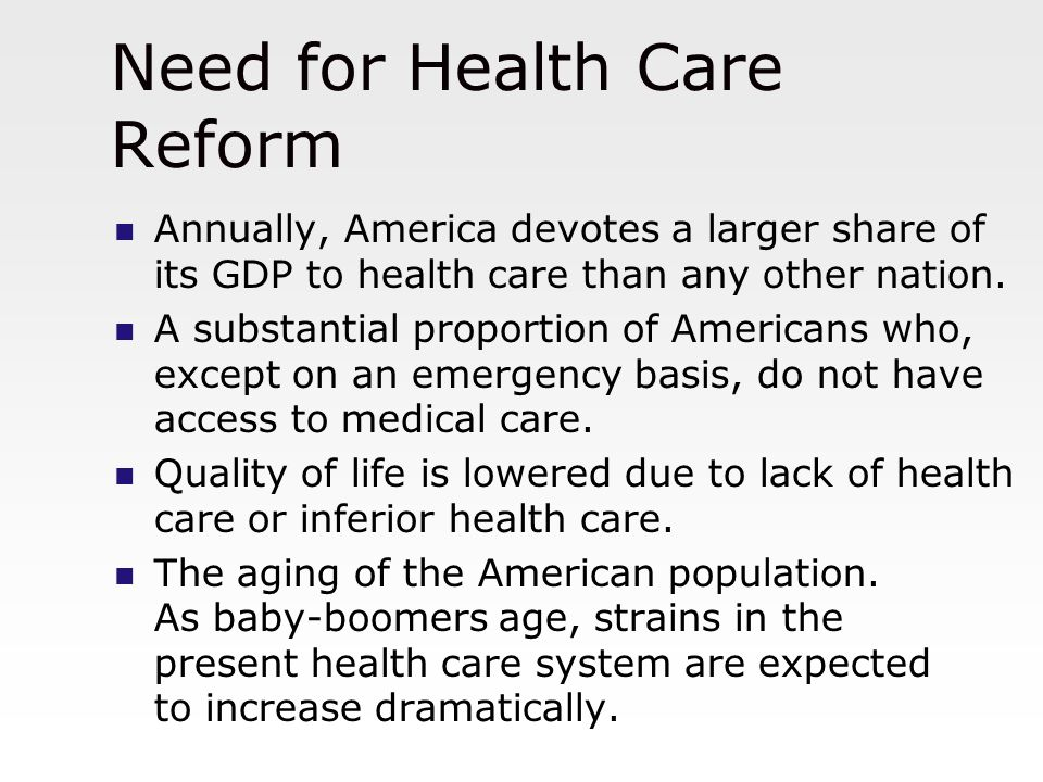 Healthcare reform in the United States