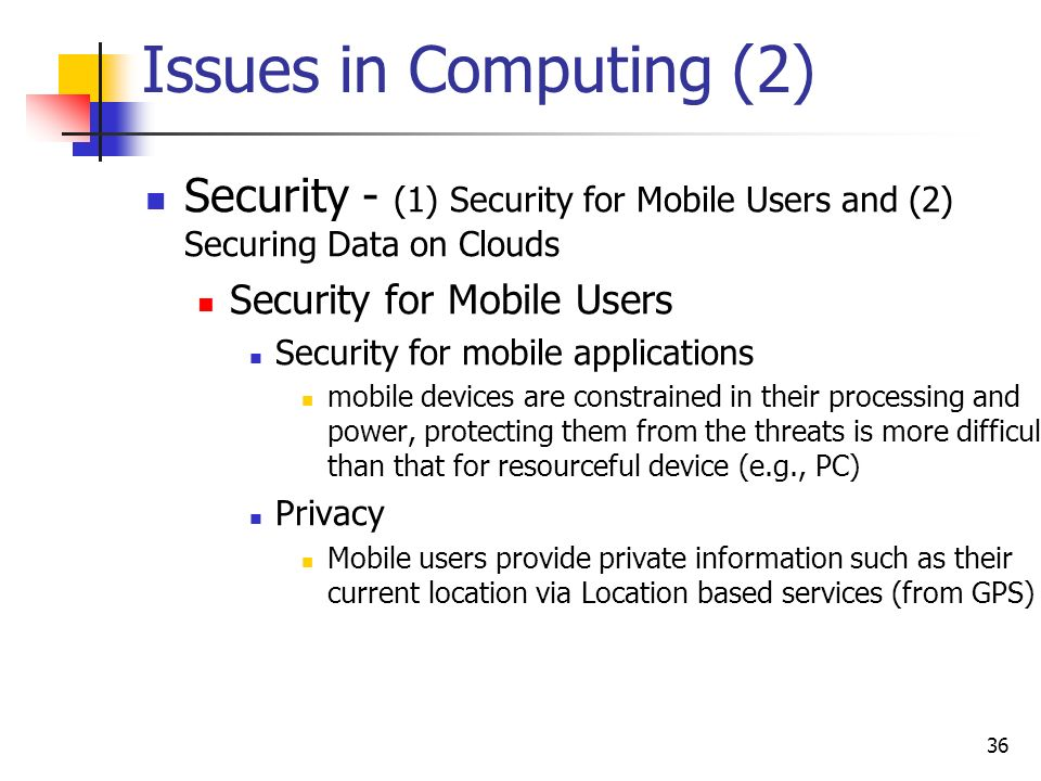 security issues in mobile cloud computing pdf