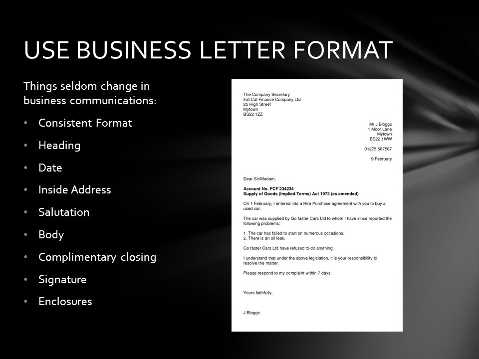 Learn to write a letter of complaint