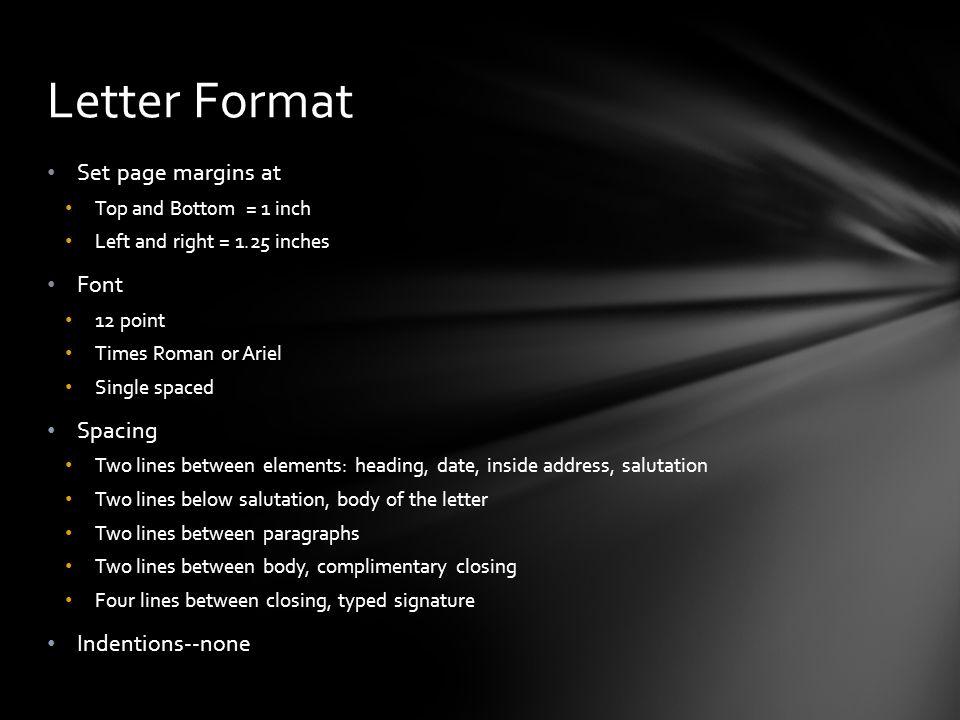 Learn to write a letter of complaint or support ppt video online 3 letter format set page margins spiritdancerdesigns Images