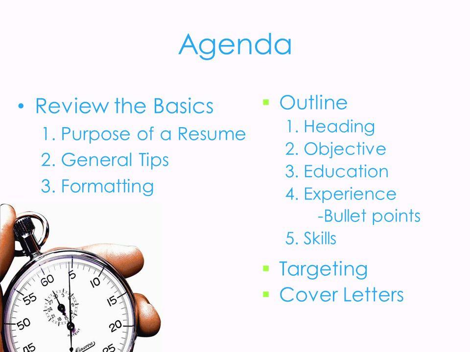 resumes cover letters 2 agenda review the basics - Resume Cover Letter Basics 2