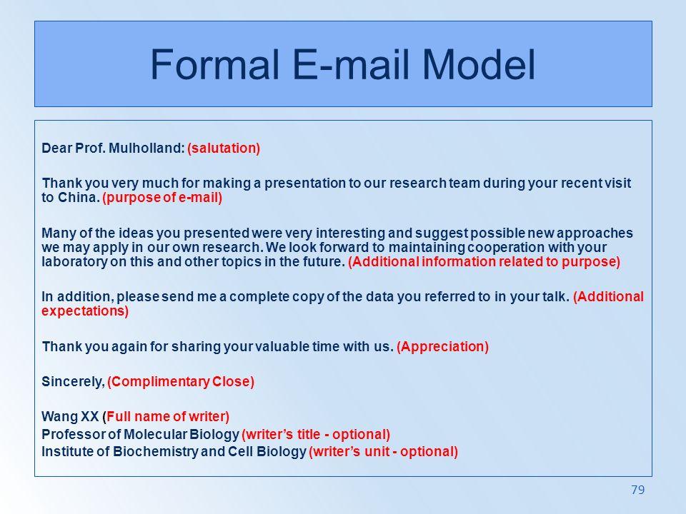 Formal E-mail Model